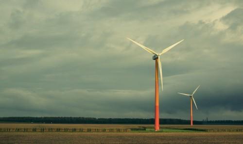 En vindmølle.