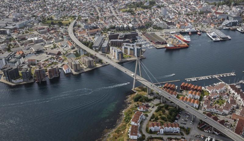 Flyfoto av Stavanger.