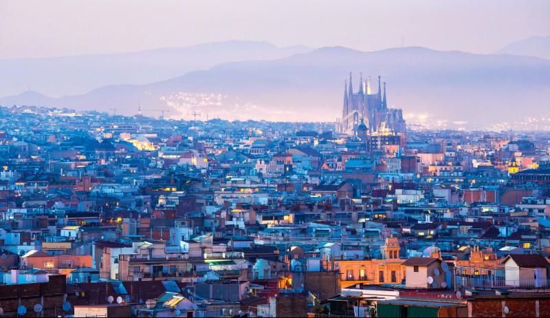 Barcelona fra oven.