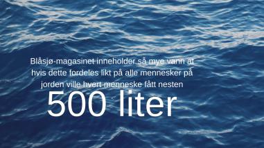 Blåsjø-magasinet inneholder så mye vann at hvis det ble fordelt likt på alle mennesker på jorden, ville hvert menneske fått nesten 500 liter.
